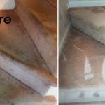 abefore and after pictures of clean stairs